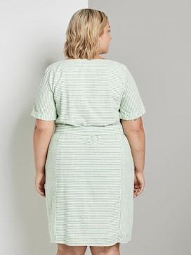 Gestreiftes Kleid mit Bindegürtel - 2 - My True Me