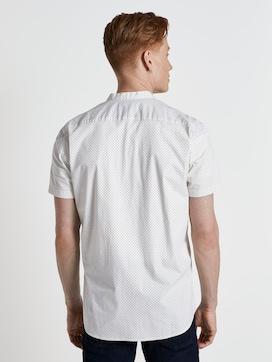 Gemustertes Kurzarmhemd mit Mao-Kragen - 2 - TOM TAILOR Denim