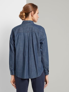 Denim blouse in a loose fit - 2 - TOM TAILOR