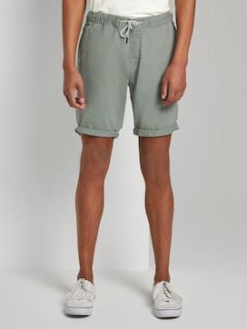 Linen-blend jogger shorts - 1 - TOM TAILOR Denim