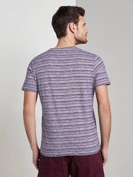 Colourful striped T-shirt with a chest pocket - 2 - TOM TAILOR