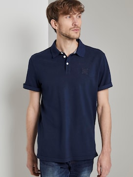 Polo shirt met logo patch - 5 - TOM TAILOR