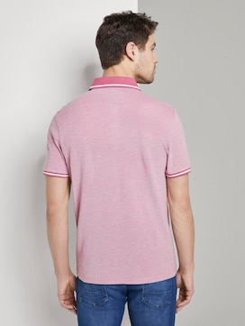 Two-tone polo shirt with a contrasting trim - 2 - TOM TAILOR