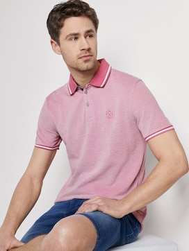 Two-tone polo shirt with a contrasting trim - 5 - TOM TAILOR