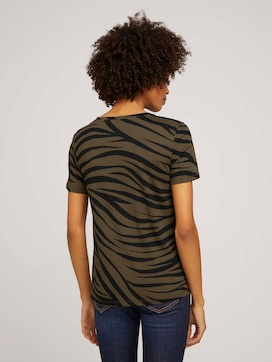 T-Shirt im Zebra-Muster - 2 - Tom Tailor E-Shop Kollektion