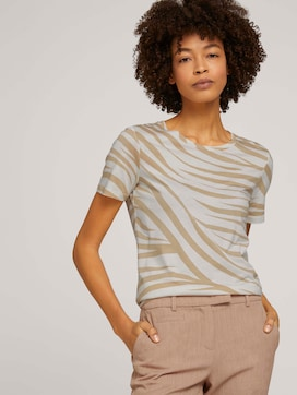 T-shirt in a zebra pattern - 5 - Mine to five