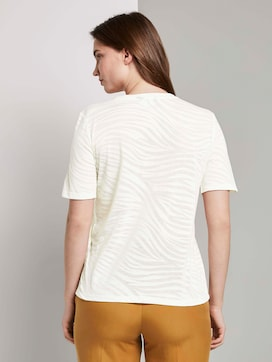 T-shirt in bleke zebra patroon - 2 - Mine to five