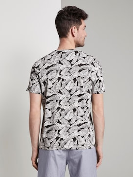 Patterned T-shirt - 2 - TOM TAILOR