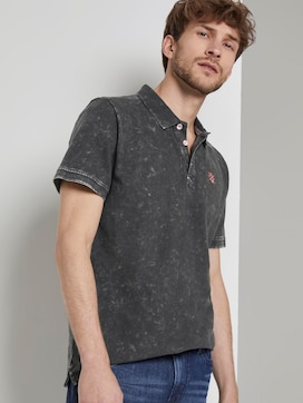Polo shirt in a stone-washed look - 5 - TOM TAILOR