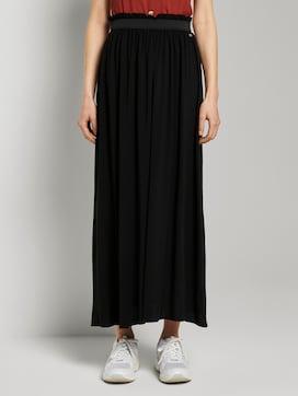 flared maxi skirt with an elastic waistband - 1 - TOM TAILOR Denim