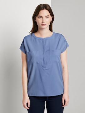 Kurzarm-Bluse mit Brusttaschen - 1 - Tom Tailor E-Shop Kollektion