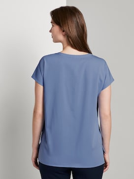 Kurzarm-Bluse mit Brusttaschen - 2 - Mine to five