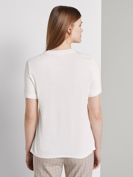 T-Shirt im Materialmix - 2 - TOM TAILOR Denim