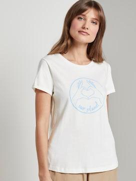 T-Shirt met Love Print - 5 - TOM TAILOR Denim