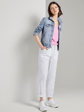 Relaxed linen-blend jogging bottoms - 3 - TOM TAILOR Denim