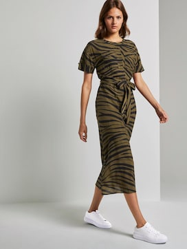 Maxikleid im Zebra-Muster - 5 - Mine to five
