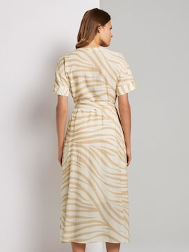 Maxi jurk in zebra patroon - 2 - Mine to five