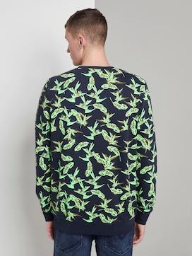 Sweatshirt with a tropical print - 2 - TOM TAILOR Denim