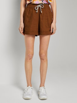 Relaxed shorts met elastische tailleband - 1 - TOM TAILOR Denim