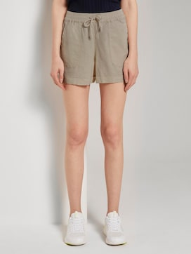 Relaxed shorts with an elastic waistband - 1 - TOM TAILOR Denim