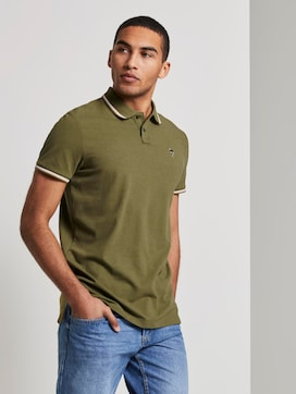 Polo shirt with embroidery in a melange look - 5 - TOM TAILOR Denim