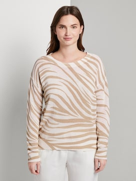 Pullover im Zebra-Muster - 1 - Tom Tailor E-Shop Kollektion