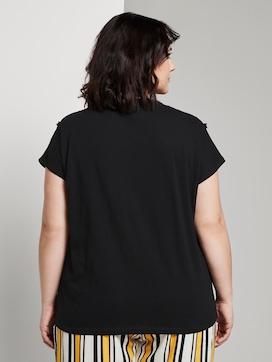 T-shirt met franje detail - 2 - Tom Tailor E-Shop Kollektion