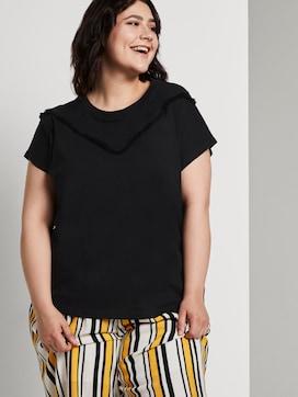 T-shirt met franje detail - 5 - Tom Tailor E-Shop Kollektion