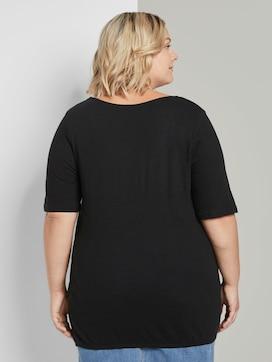T-shirt met elastische manchetten - 2 - Tom Tailor E-Shop Kollektion