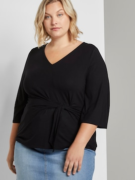 Bluse mit Knoten-Detail - 5 - My True Me