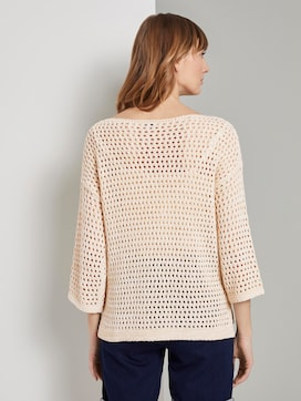 Ajour pullover with cut-out details - 2 - TOM TAILOR