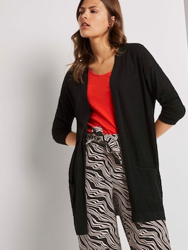 Long cardigan with loose-fit pockets - 5 - TOM TAILOR