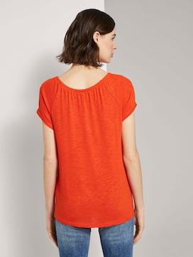 Basic T-Shirt mit Carmen-Ausschnitt - 2 - TOM TAILOR