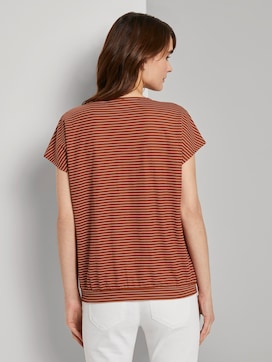 T-shirt met biaisstrepen en elastische tailleband - 2 - TOM TAILOR