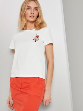 T-shirt with small monkey appliqués - 5 - TOM TAILOR