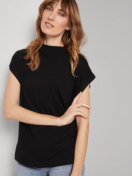 T-Shirt mit Stehkragen - 5 - TOM TAILOR