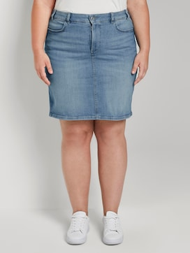 Denim skirt in a washed look - 1 - My True Me