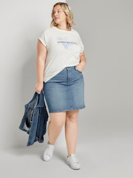 Denim skirt in a washed look - 3 - My True Me