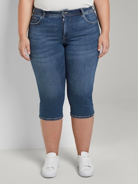Slim Fit Capri Jeans in vernietigde look - 1 - Tom Tailor E-Shop Kollektion