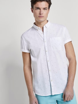 Textured short-sleeved shirt with a chest pocket - 5 - TOM TAILOR Denim