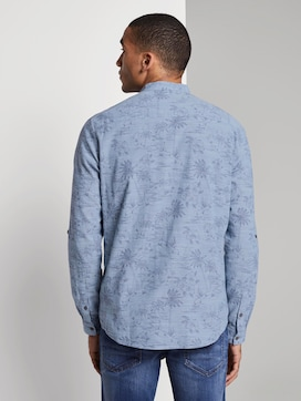 Patterned shirt with turn-ups and a Mao collar - 2 - TOM TAILOR Denim
