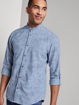 Patterned shirt with turn-ups and a Mao collar - 5 - TOM TAILOR Denim