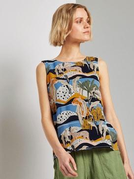 Ärmellose Bluse mit exotischem Print - 5 - TOM TAILOR Denim