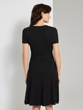 Jersey Midikleid in Wickeloptik - 2 - TOM TAILOR