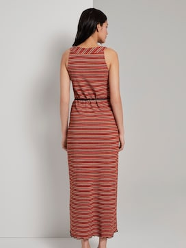 Patterned halter maxi-dress with a tie belt - 2 - TOM TAILOR
