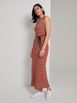 Patterned halter maxi-dress with a tie belt - 5 - TOM TAILOR