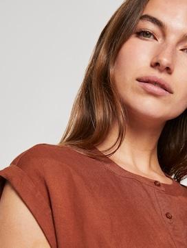 Hemdkleid mit Gürtel aus Leinengemisch - 9 - TOM TAILOR