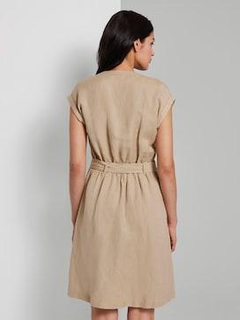 Hemdkleid mit Gürtel aus Leinengemisch - 2 - TOM TAILOR