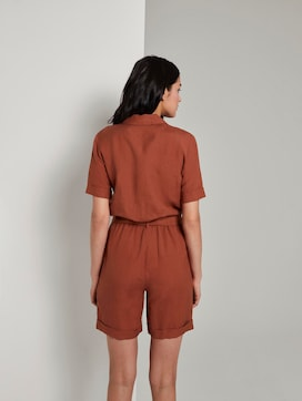 Short utility jumpsuit with a lapel collar - 2 - TOM TAILOR