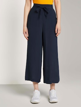 Flowing culotte with a tie belt - 1 - TOM TAILOR Denim